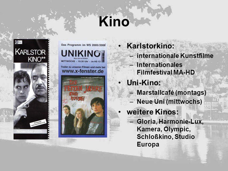 Kino Karlstorkino: Uni-Kino: weitere Kinos: internationale Kunstfilme