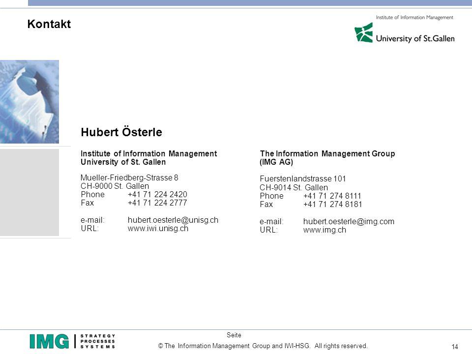 Kontakt Hubert Österle
