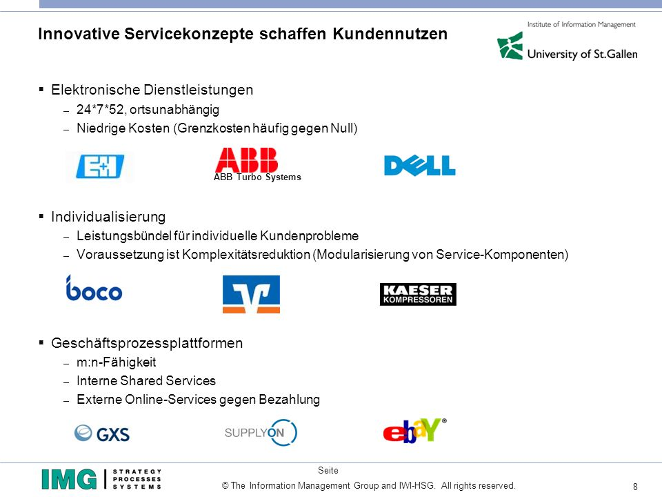 Innovative Servicekonzepte schaffen Kundennutzen