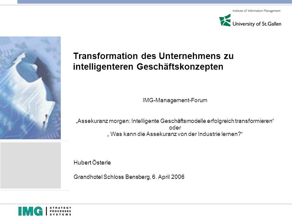 Transformation des Unternehmens zu intelligenteren Geschäftskonzepten