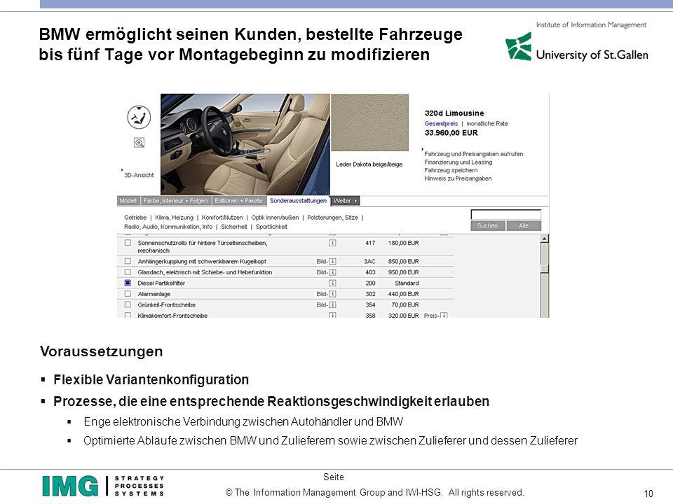 BMW ermöglicht seinen Kunden, bestellte Fahrzeuge bis fünf Tage vor Montagebeginn zu modifizieren