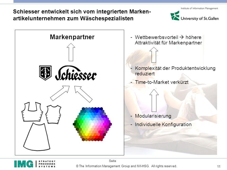 Schiesser entwickelt sich vom integrierten Marken- artikelunternehmen zum Wäschespezialisten