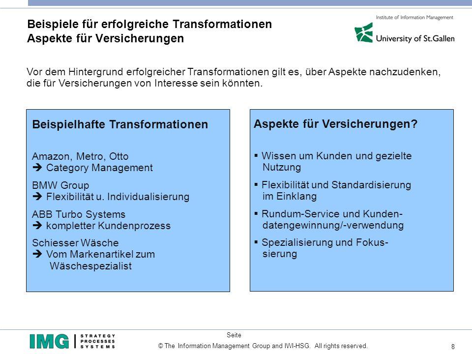 Beispiele für erfolgreiche Transformationen Aspekte für Versicherungen