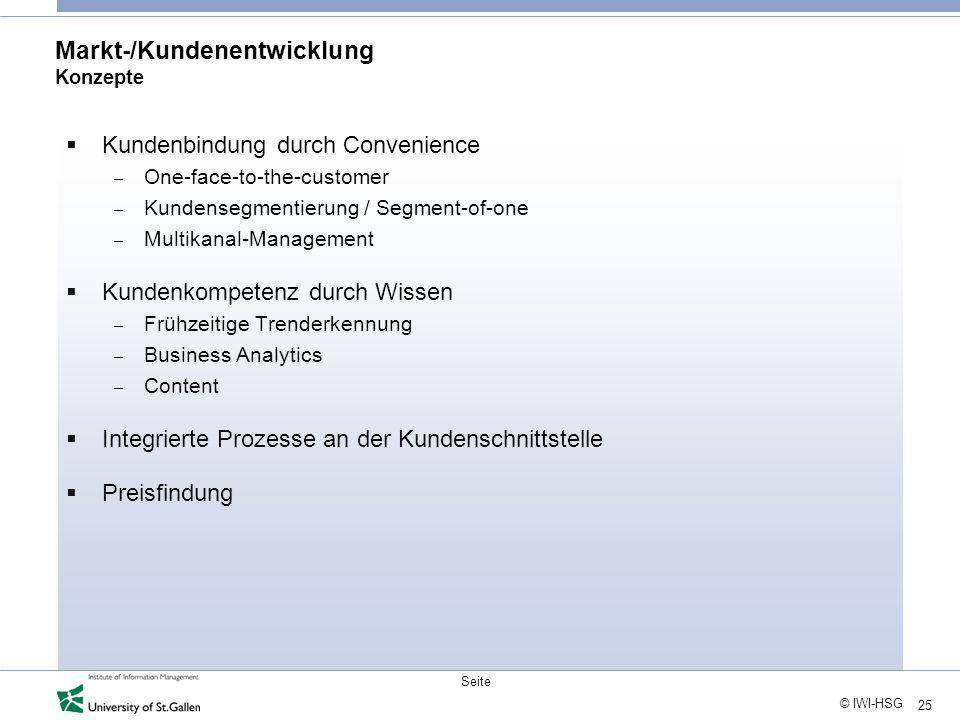 Markt-/Kundenentwicklung Konzepte