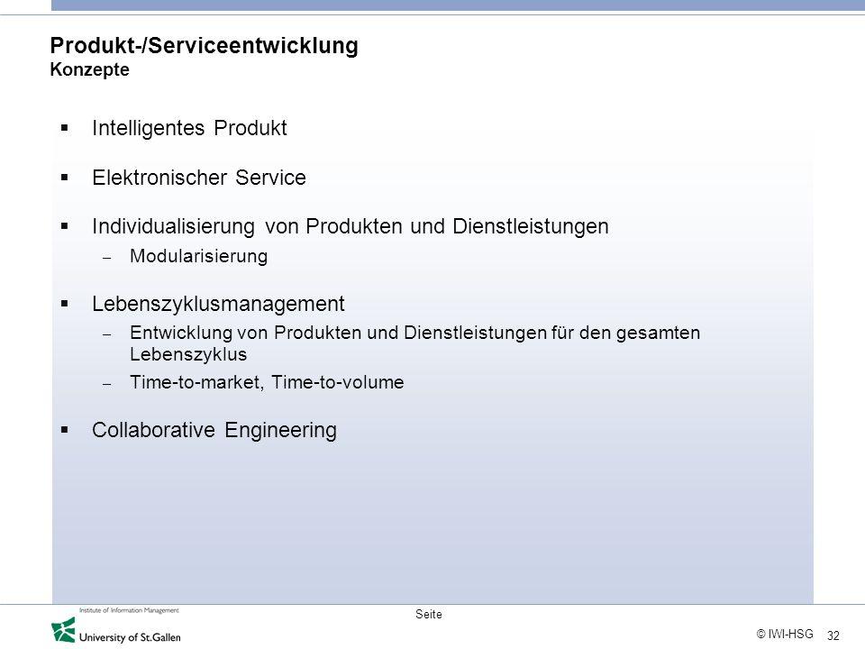Produkt-/Serviceentwicklung Konzepte