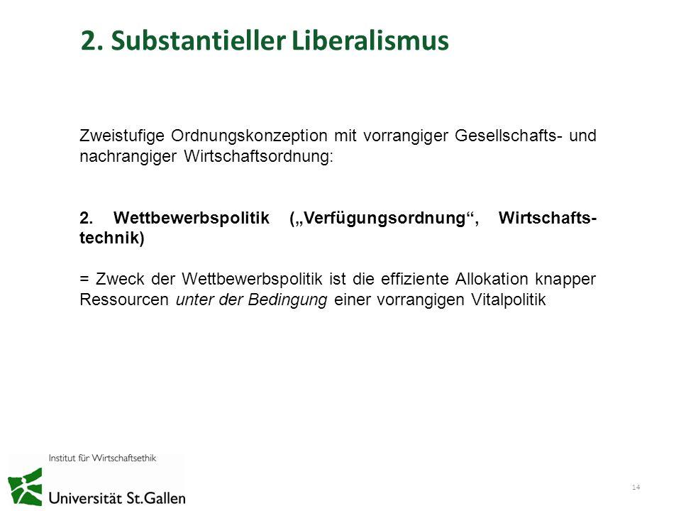2. Substantieller Liberalismus