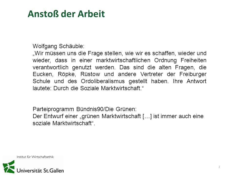 Anstoß der Arbeit Wolfgang Schäuble: