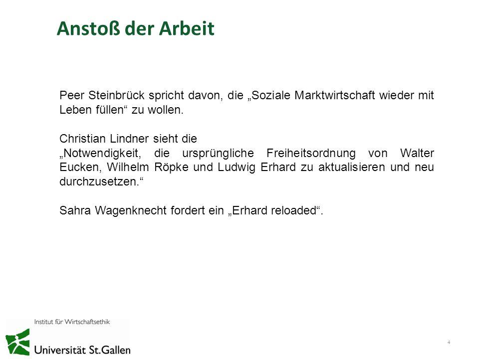 """Anstoß der Arbeit Peer Steinbrück spricht davon, die """"Soziale Marktwirtschaft wieder mit Leben füllen zu wollen."""
