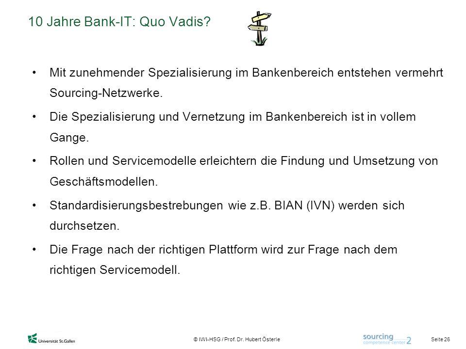 10 Jahre Bank-IT: Quo Vadis