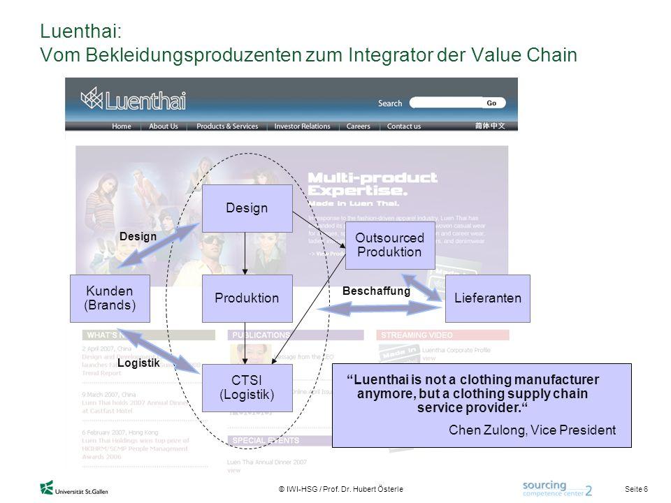 Luenthai: Vom Bekleidungsproduzenten zum Integrator der Value Chain