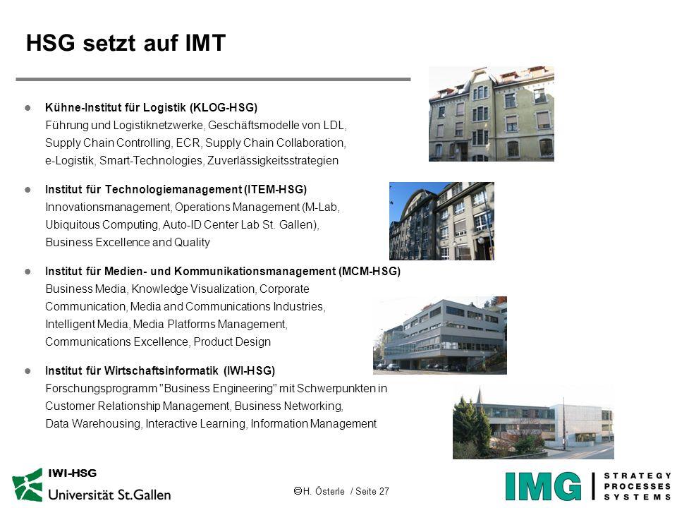 HSG setzt auf IMT
