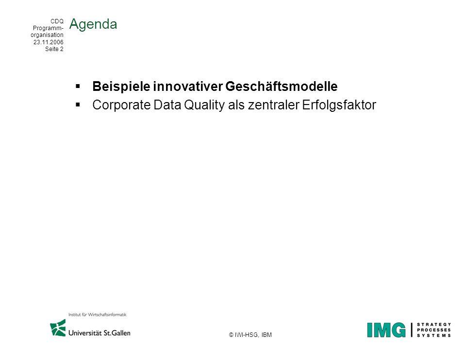 Agenda Beispiele innovativer Geschäftsmodelle