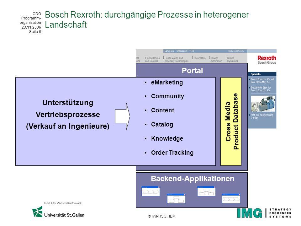 Bosch Rexroth: durchgängige Prozesse in heterogener Landschaft