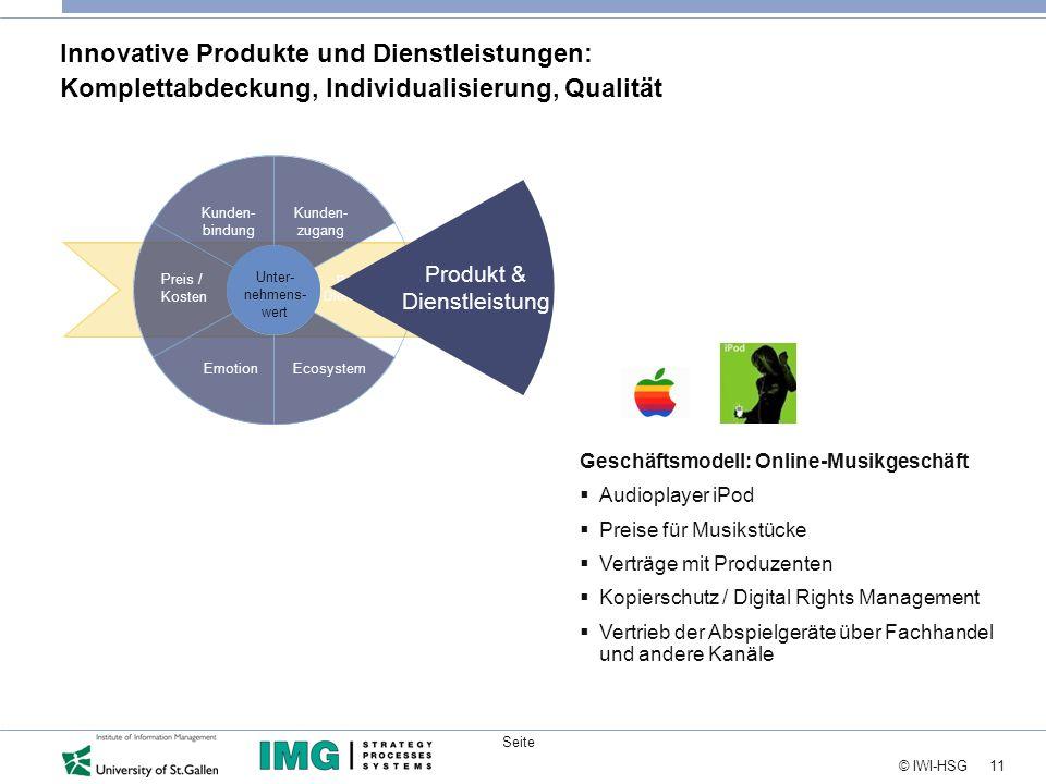 Innovative Produkte und Dienstleistungen: Komplettabdeckung, Individualisierung, Qualität