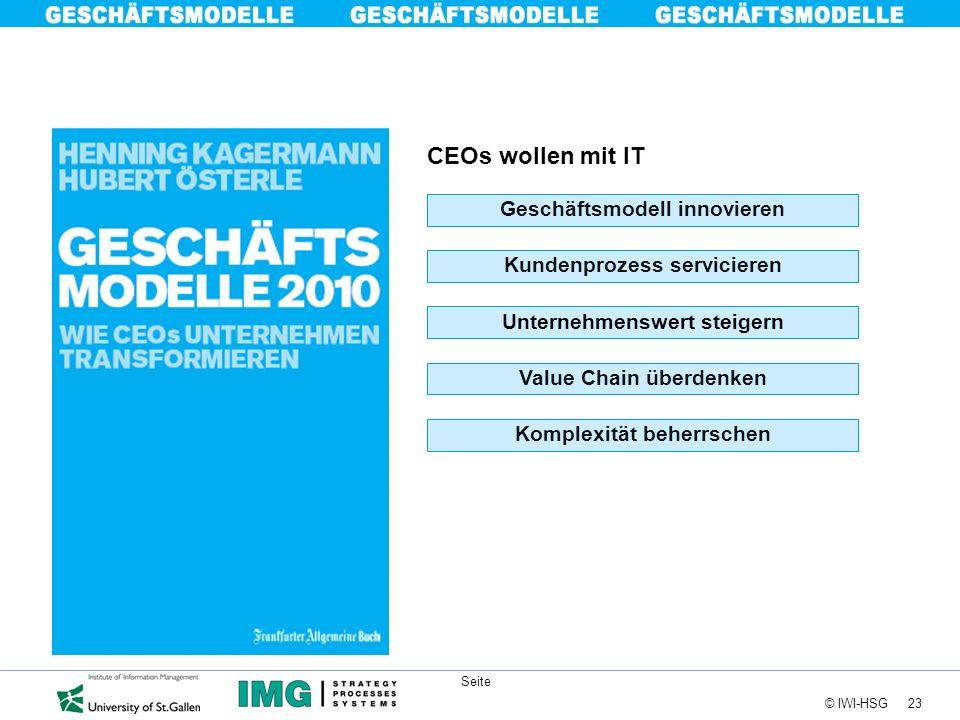 CEOs wollen mit IT Geschäftsmodell innovieren