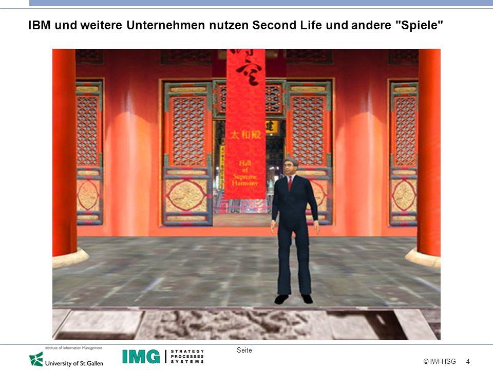 IBM und weitere Unternehmen nutzen Second Life und andere Spiele