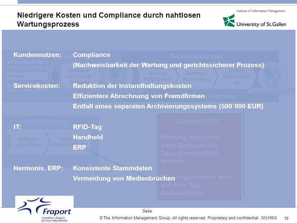 Niedrigere Kosten und Compliance durch nahtlosen Wartungsprozess