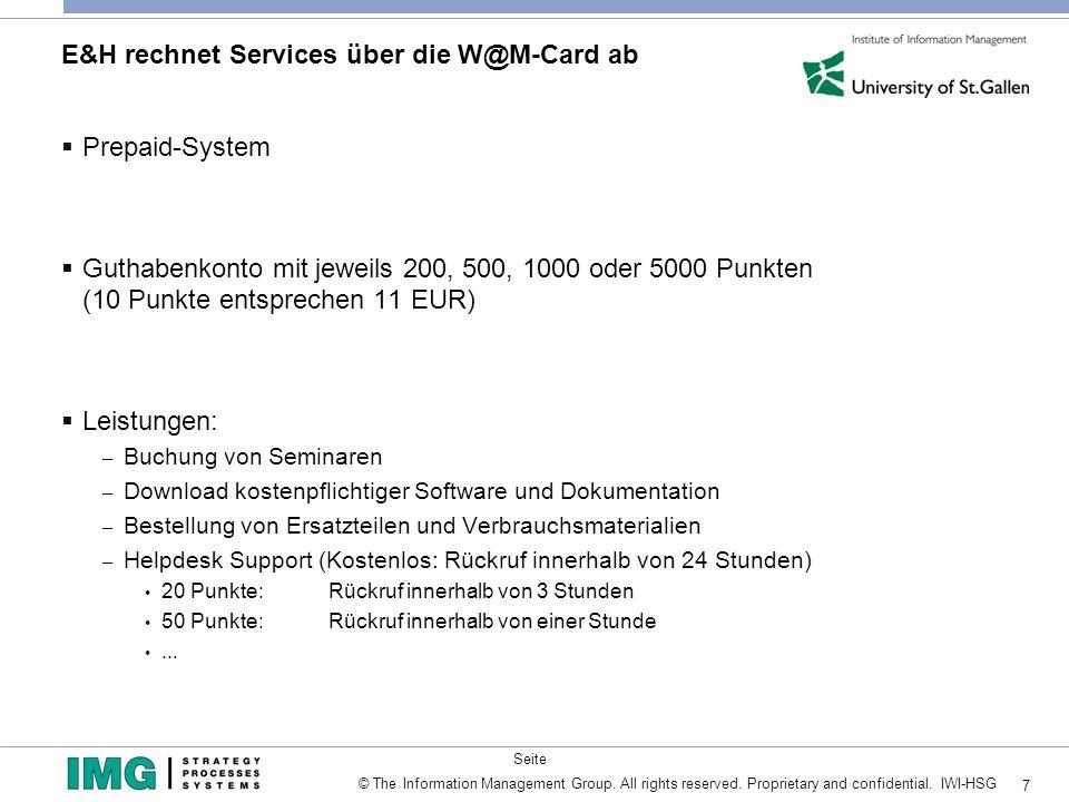 E&H rechnet Services über die W@M-Card ab