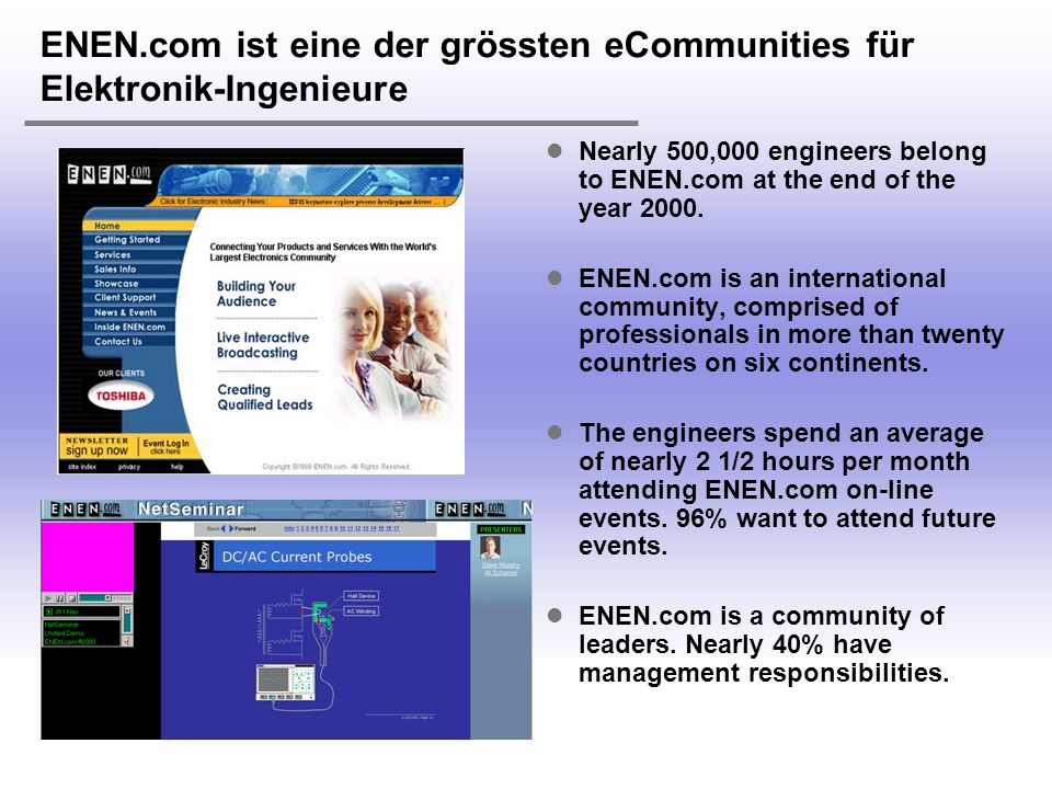 ENEN.com ist eine der grössten eCommunities für Elektronik-Ingenieure