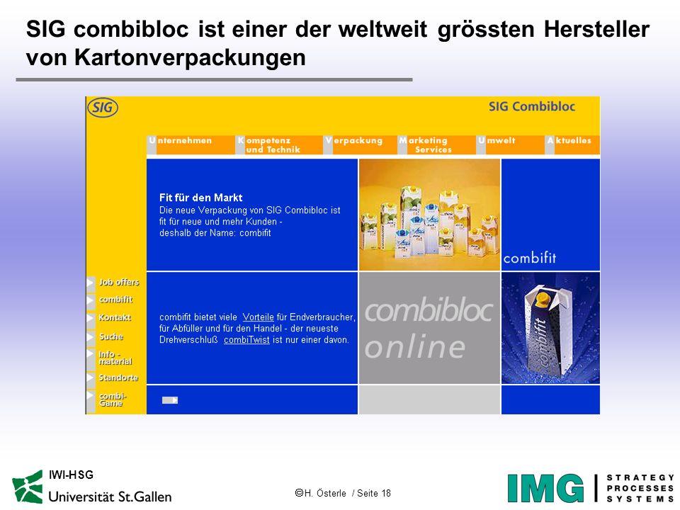 SIG combibloc ist einer der weltweit grössten Hersteller von Kartonverpackungen
