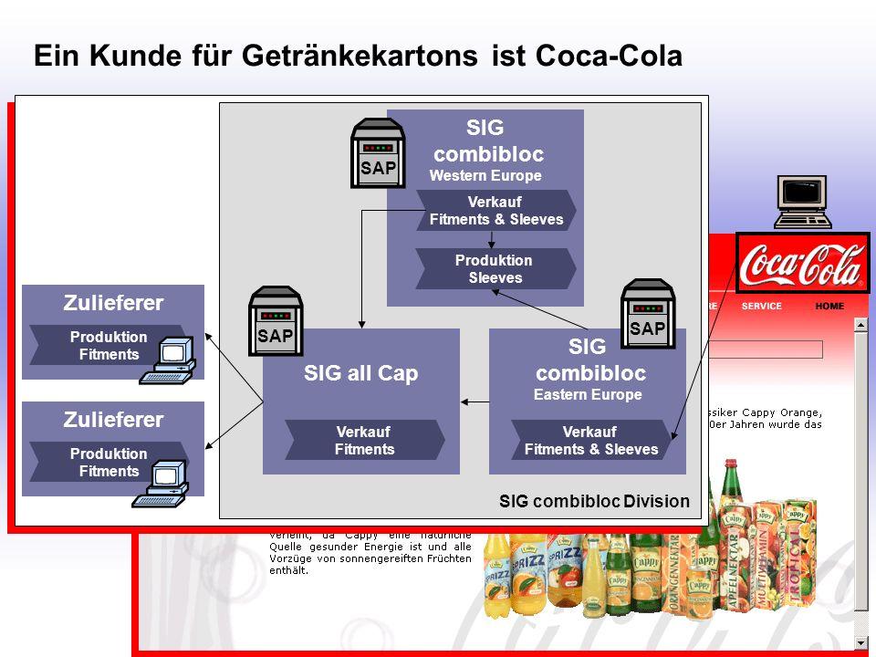 Ein Kunde für Getränkekartons ist Coca-Cola