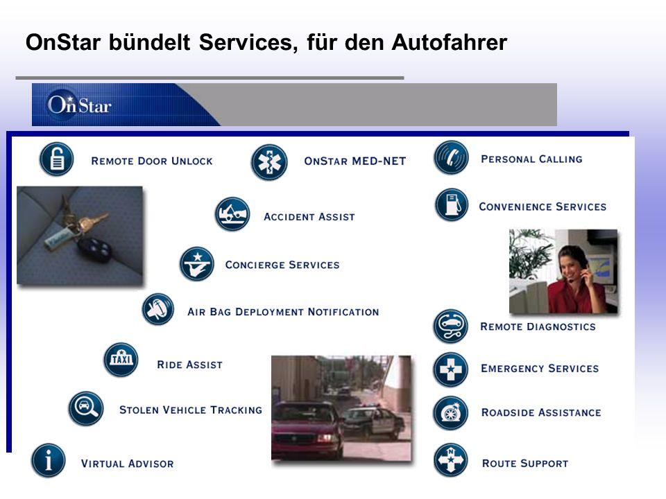 OnStar bündelt Services, für den Autofahrer