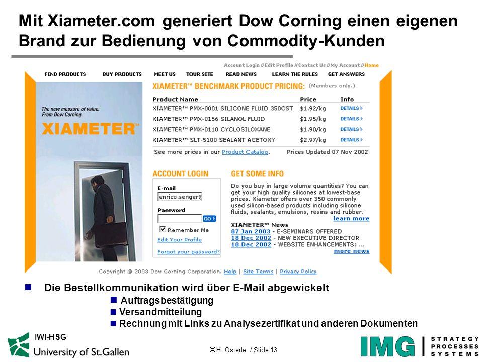 Mit Xiameter.com generiert Dow Corning einen eigenen Brand zur Bedienung von Commodity-Kunden