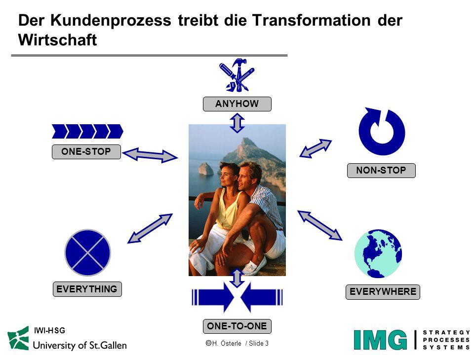 Der Kundenprozess treibt die Transformation der Wirtschaft