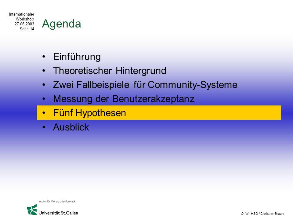 Agenda Einführung Theoretischer Hintergrund