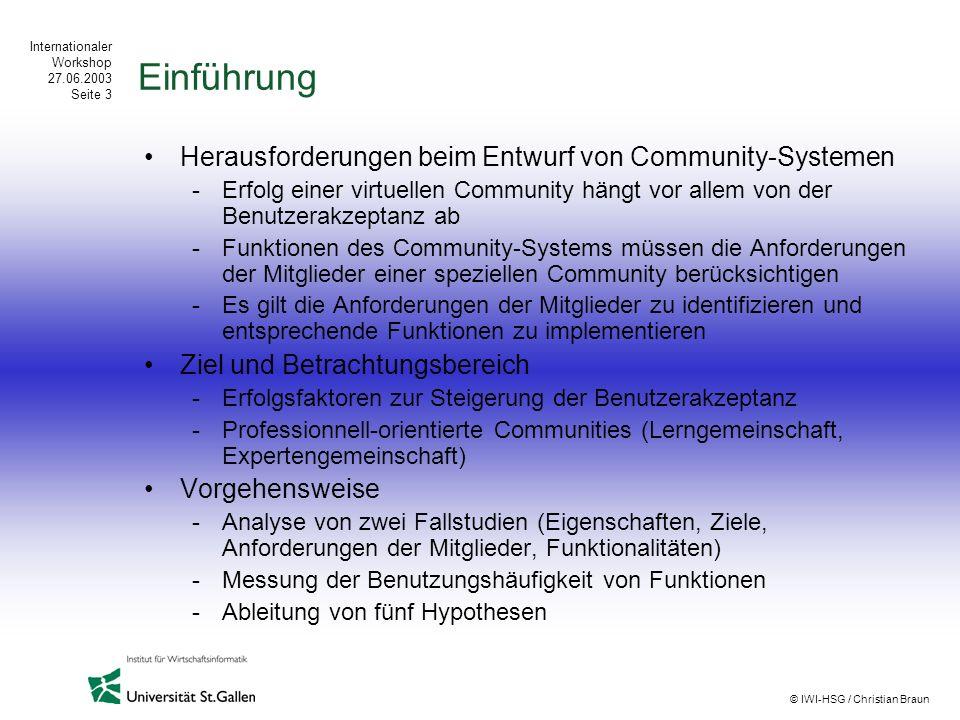 Einführung Herausforderungen beim Entwurf von Community-Systemen