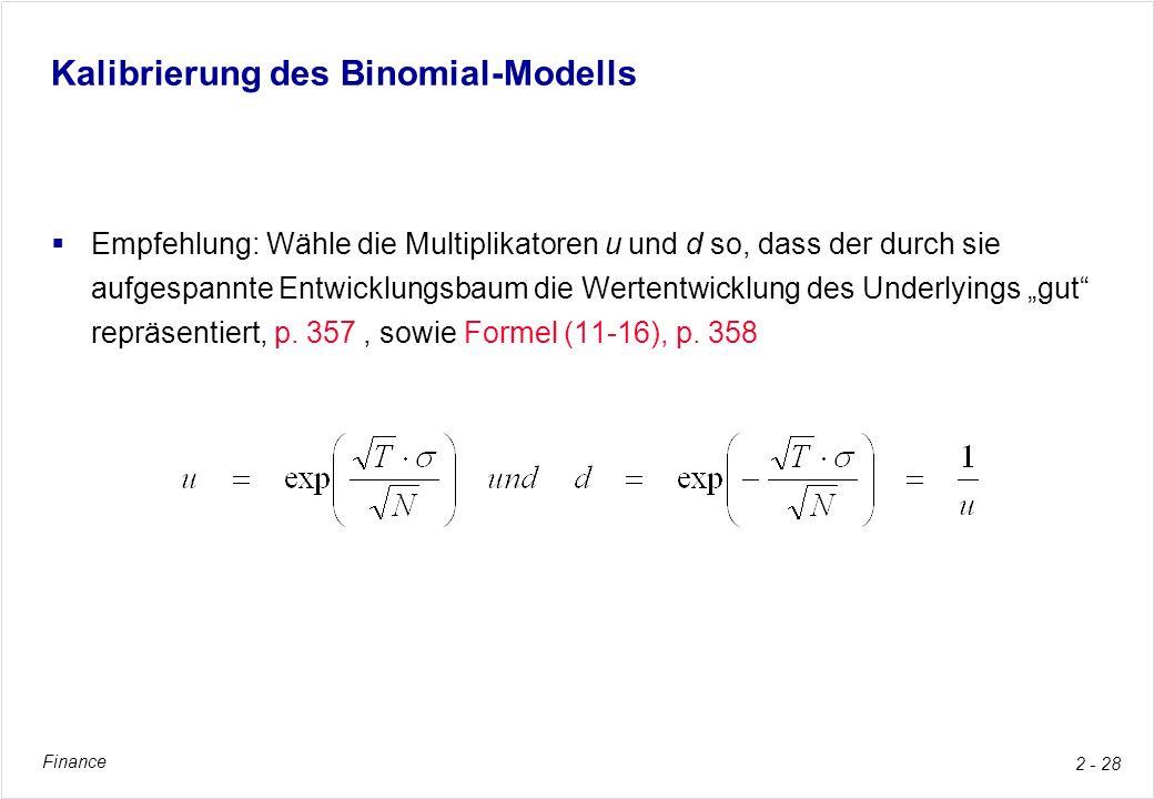 Kalibrierung des Binomial-Modells