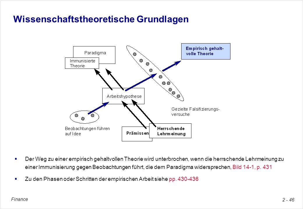 Wissenschaftstheoretische Grundlagen