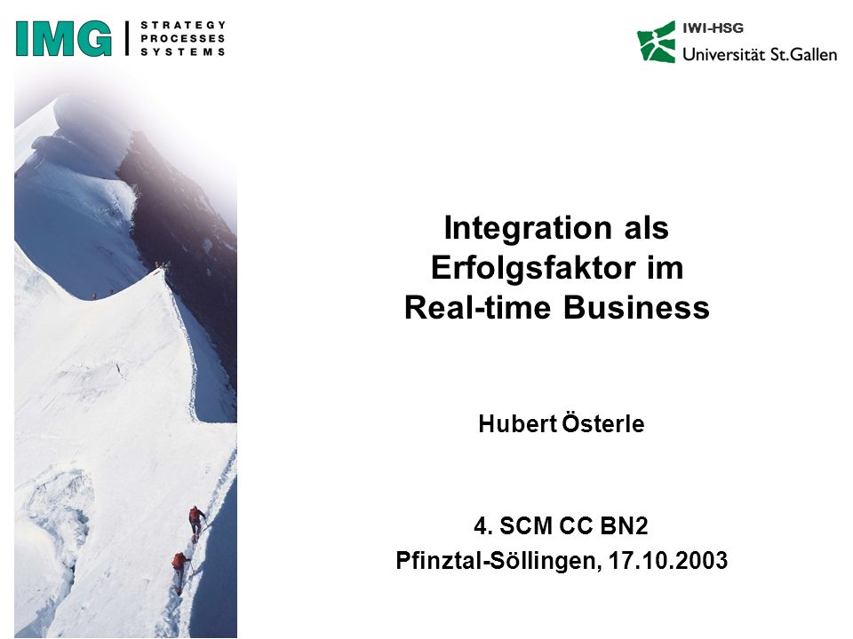 Integration als Erfolgsfaktor im Real-time Business
