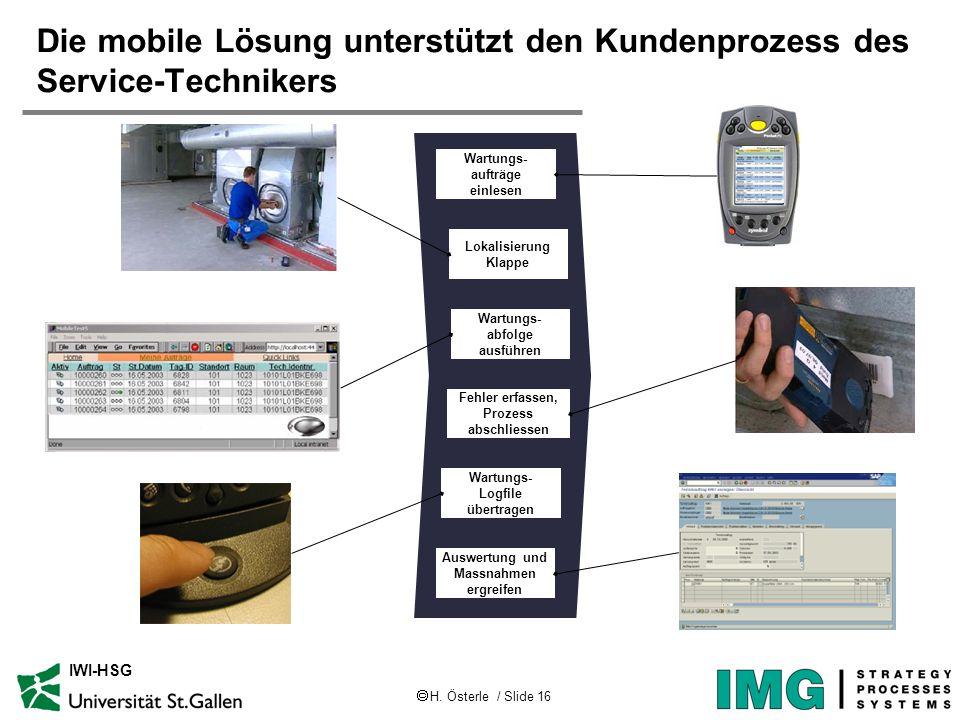 Die mobile Lösung unterstützt den Kundenprozess des Service-Technikers