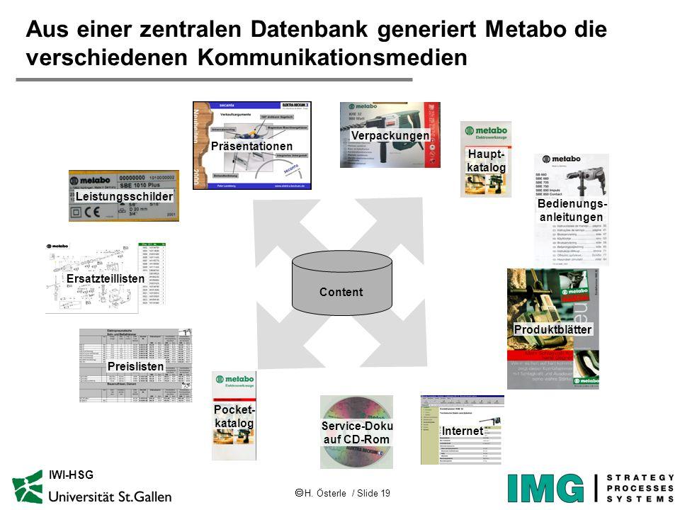 Aus einer zentralen Datenbank generiert Metabo die verschiedenen Kommunikationsmedien