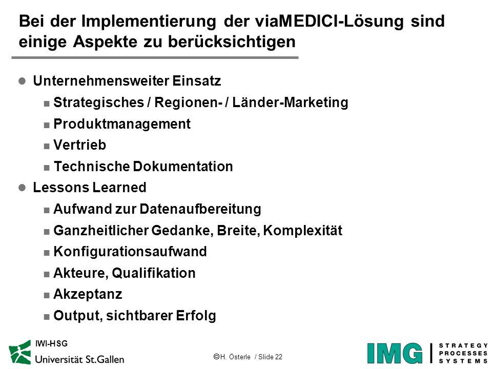 Bei der Implementierung der viaMEDICI-Lösung sind einige Aspekte zu berücksichtigen