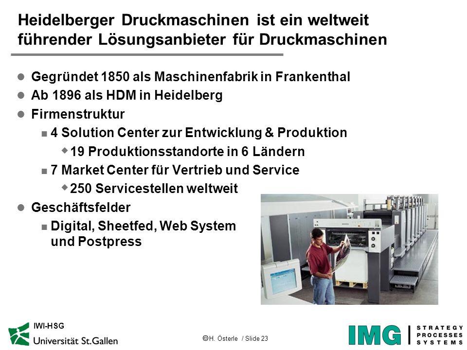 Heidelberger Druckmaschinen ist ein weltweit führender Lösungsanbieter für Druckmaschinen
