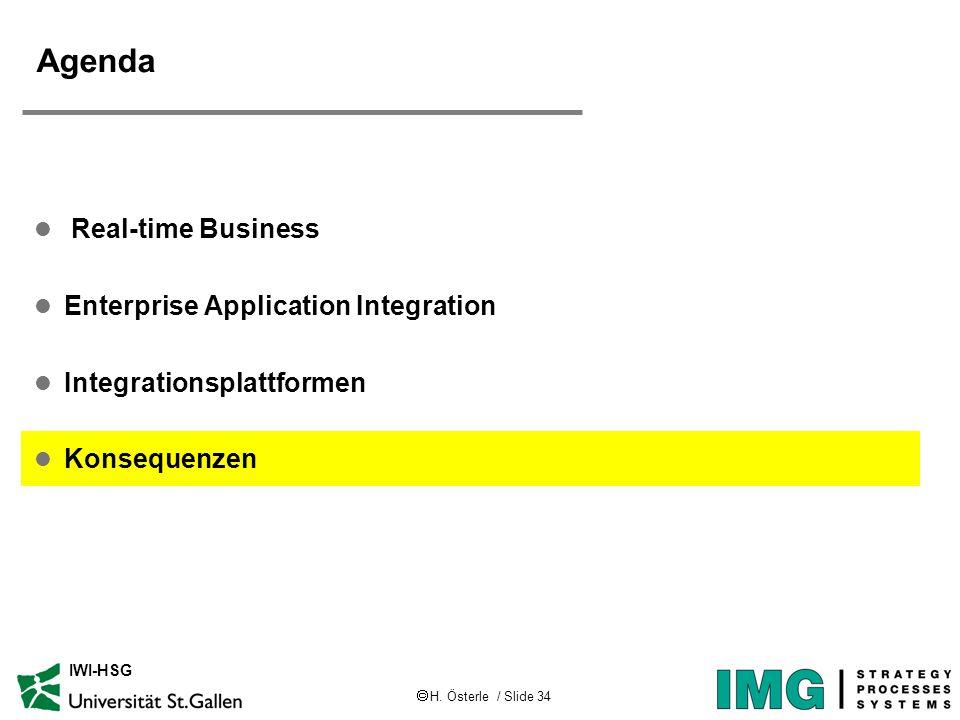 Agenda Real-time Business Enterprise Application Integration