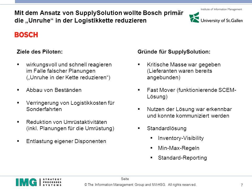 """Mit dem Ansatz von SupplySolution wollte Bosch primär die """"Unruhe in der Logistikkette reduzieren"""