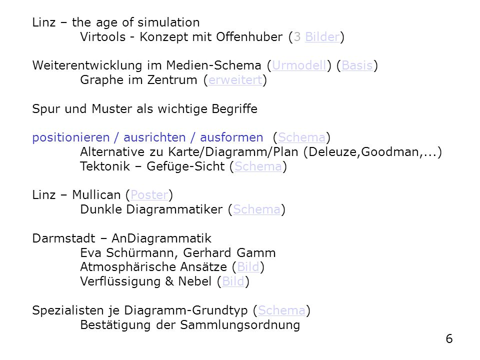 Linz – the age of simulation