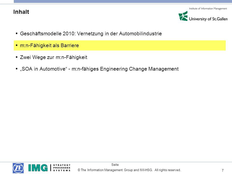 Inhalt Geschäftsmodelle 2010: Vernetzung in der Automobilindustrie