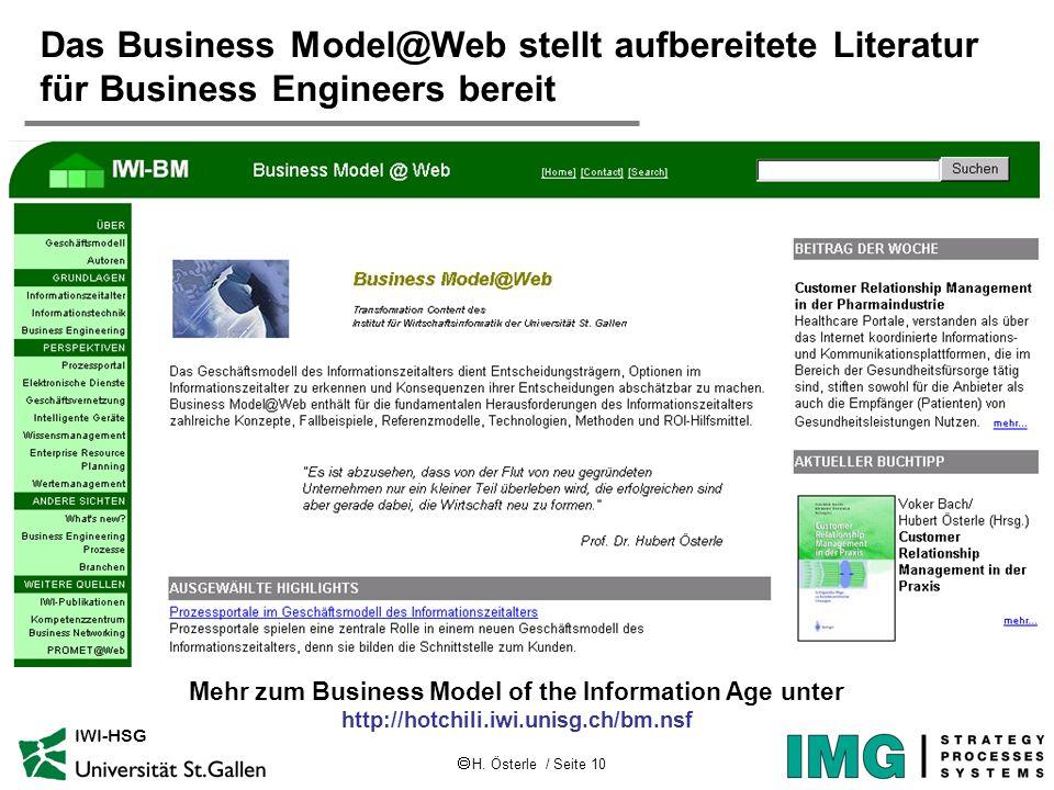 Das Business Model@Web stellt aufbereitete Literatur für Business Engineers bereit