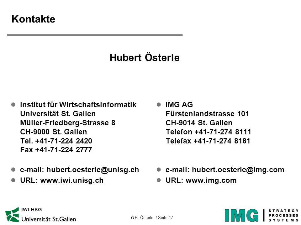 Kontakte Hubert Österle