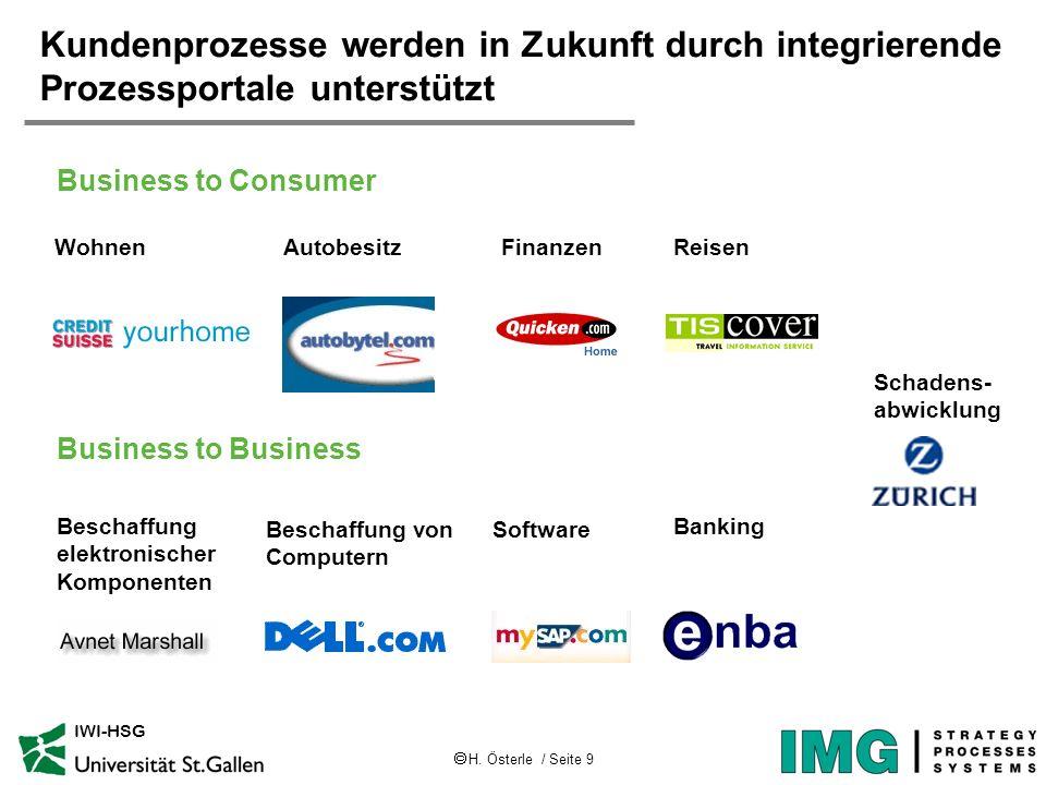 Kundenprozesse werden in Zukunft durch integrierende Prozessportale unterstützt