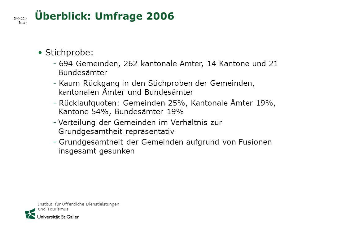 Überblick: Umfrage 2006 Stichprobe: