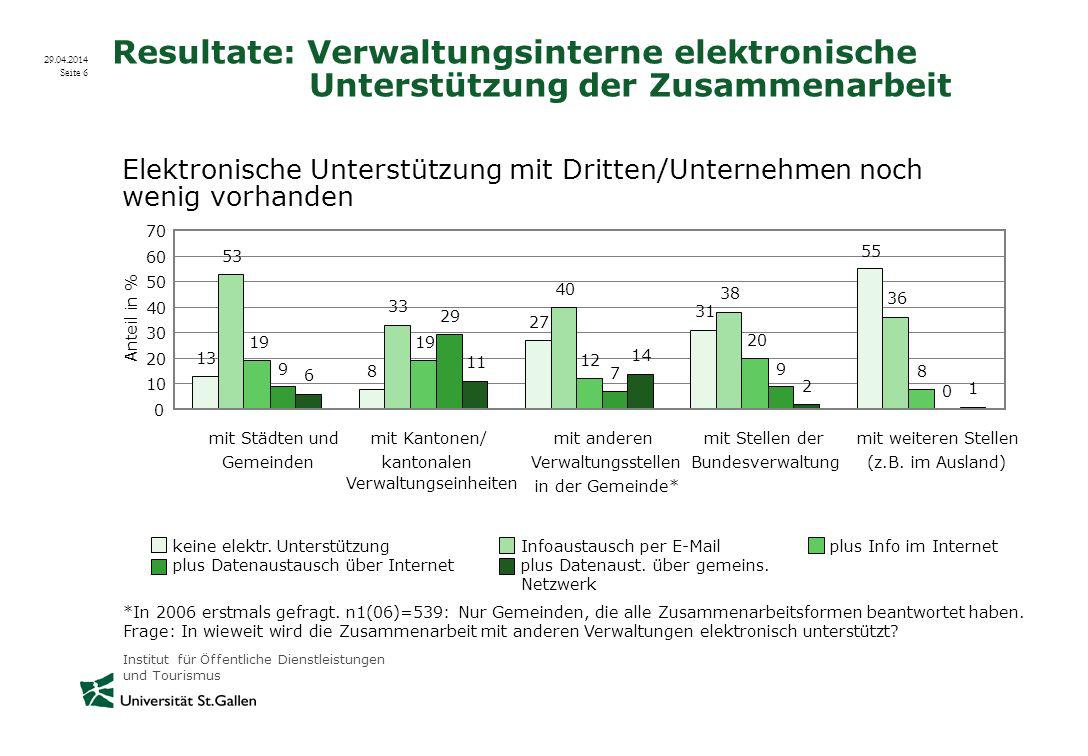 Resultate: Verwaltungsinterne elektronische