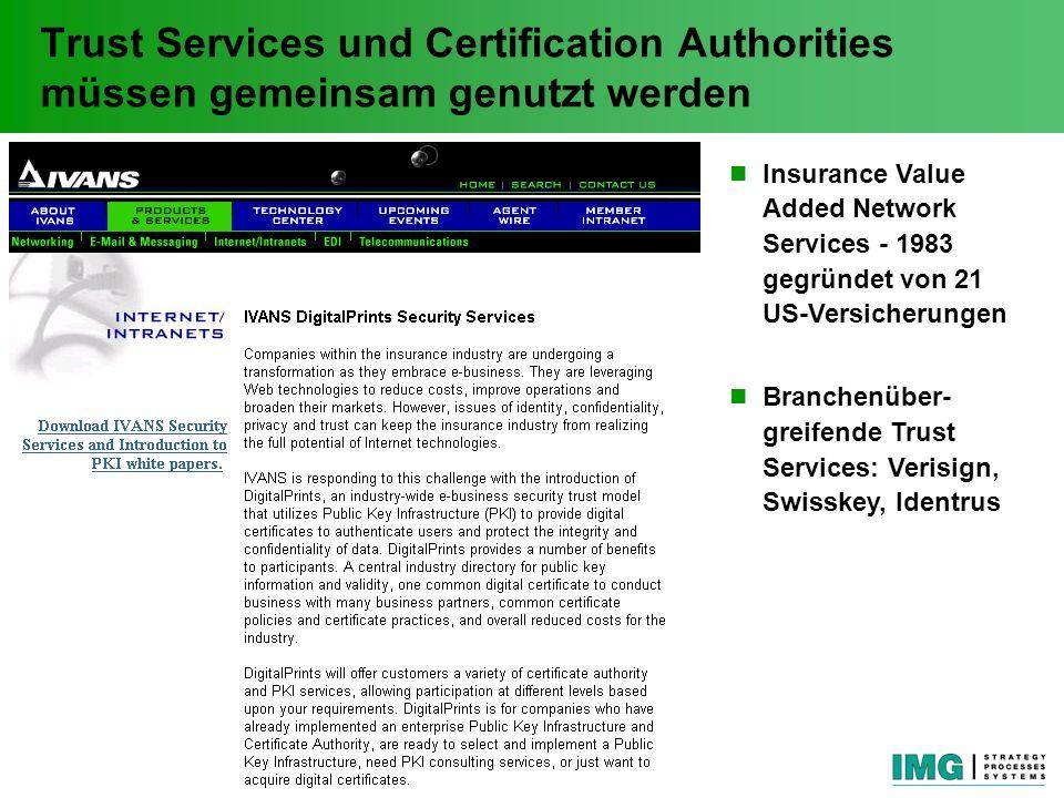 Trust Services und Certification Authorities müssen gemeinsam genutzt werden