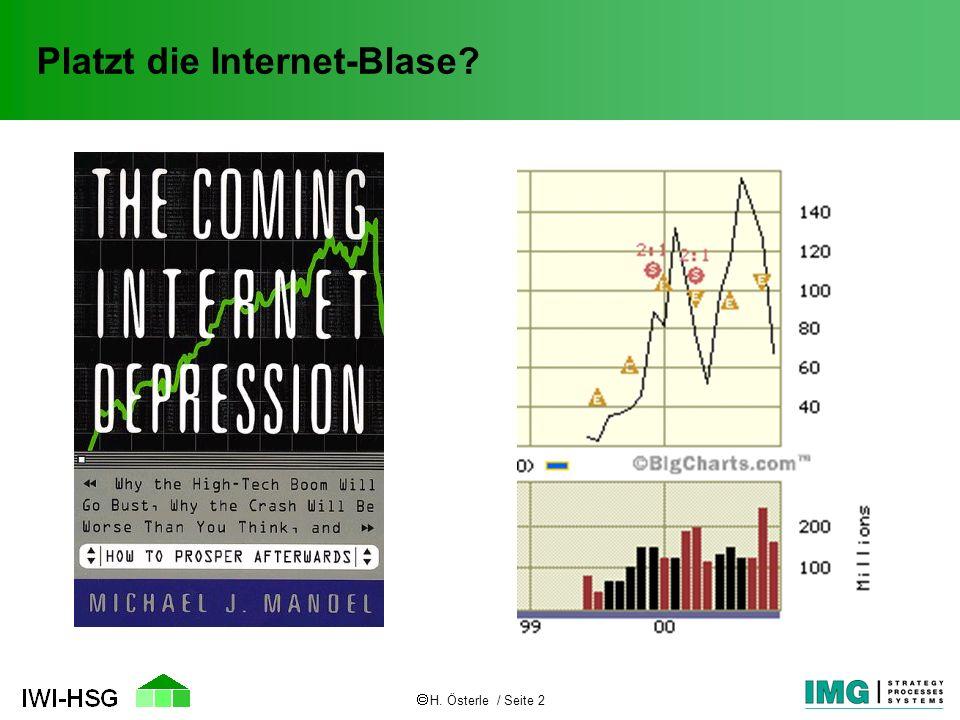 Platzt die Internet-Blase