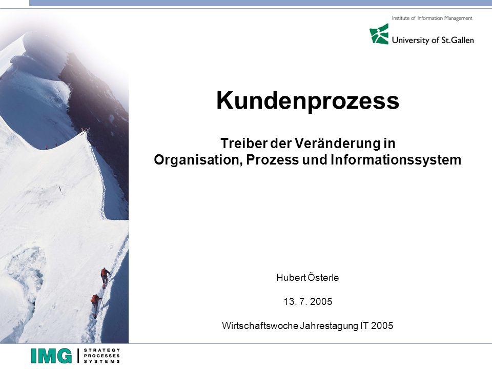 Hubert Österle 13. 7. 2005 Wirtschaftswoche Jahrestagung IT 2005