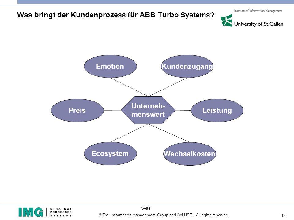 Was bringt der Kundenprozess für ABB Turbo Systems